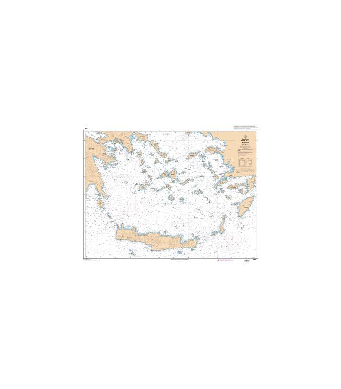 Carte marine Shom 7265 L   Mer Egée   Partie Sud   Carte marine Sho