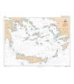 7265 L - Mer Egée - Partie Sud - Carte marine Shom papier