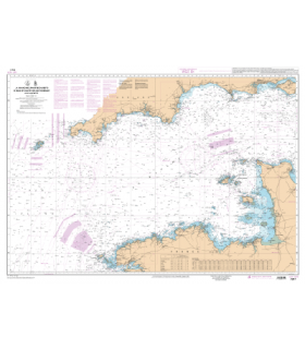 7311 L - La Manche (Partie Ouest) - De Isles of Scilly et de l'Ile d'Ouessant aux Casquets - Carte marine Shom papier