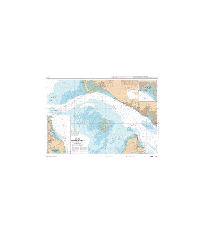 Carte marine Shom 7425   Embouchure de la Gironde   Carte marine Sh