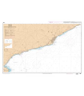 7664 L - De Cabo Tortosa à Cabo de Tossa - Carte marine Shom papier