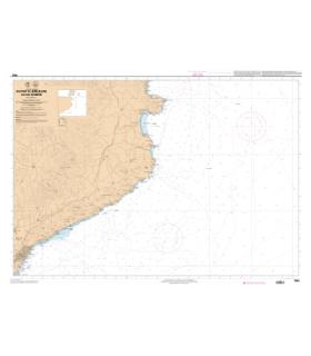 7663 L - Du cap de Barcelona au Cap Cerbere - Carte marine Shom papier