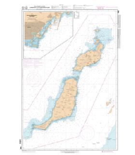 7562 L - Lanzarote et Fuerteventura - Carte marine Shom papier