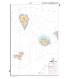 7563 L - La Palma, Gomera et Hierro - Carte marine Shom papier