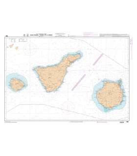 7565 L - Gran Canaria, Tenerife et La Gomera - Carte marine Shom papier