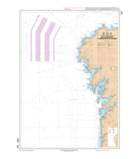 7597 L - Des Iles Sisargas à l'embouchure du Rio Mino - Carte marine Shom papier