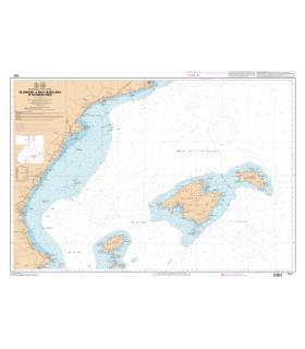 7661 L - De Cabo de la Nao à Barcelona et Islas Baleares - Carte marine Shom papier