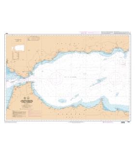 7658 L - Détroit de Gibraltar – Mer d'Alboran - Carte marine Shom papier