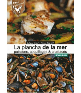 Plancha de la mer, poissons, coquillages & crustacés