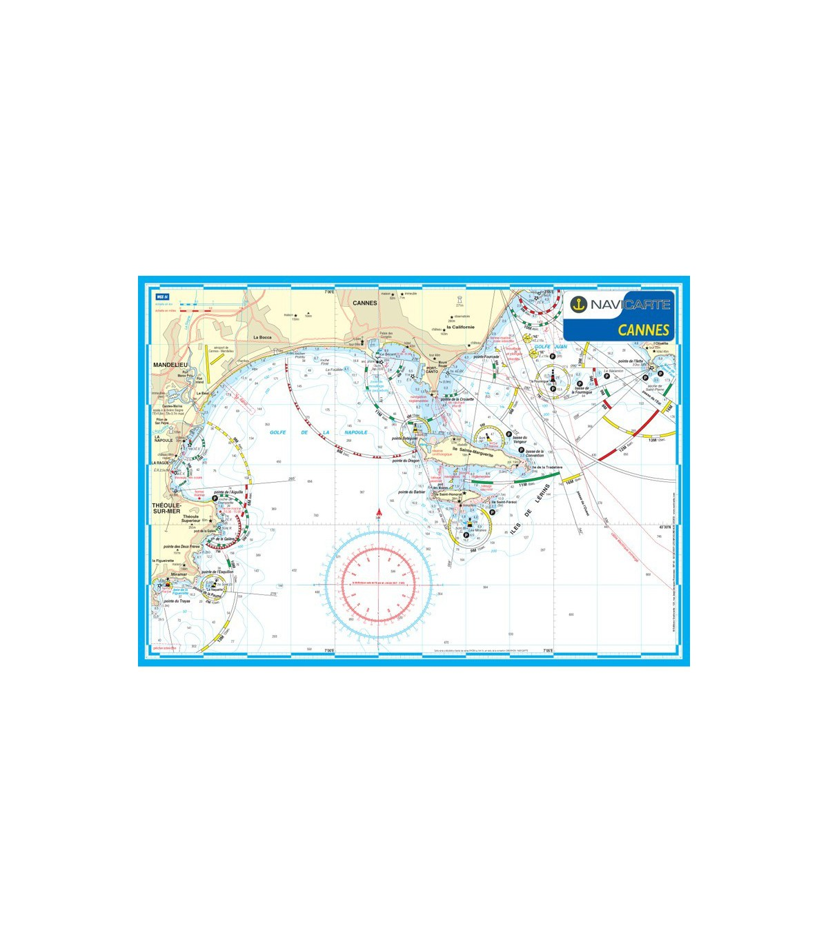Carte Marine Carte Marine Plastifiee Mininav Cannes Veritable Carte
