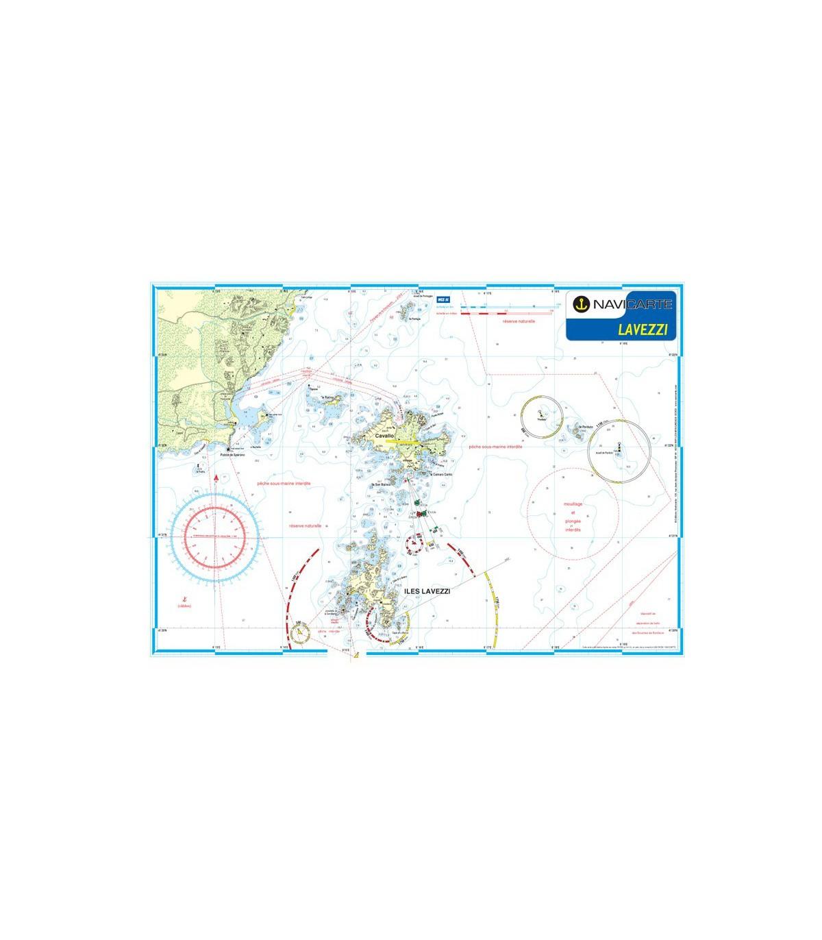 Carte Marine Carte Marine Plastifiee Mininav Lavezzi Epuise Navica