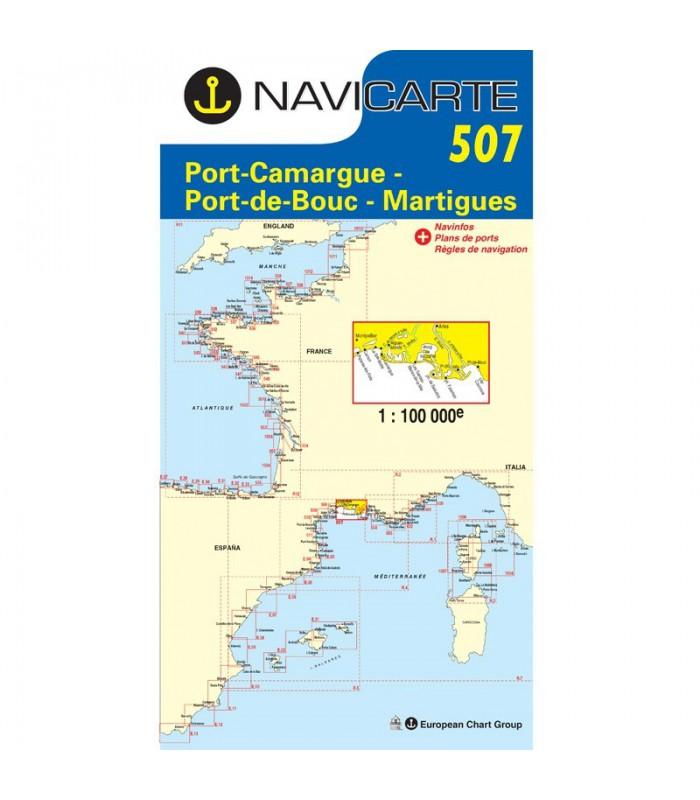 Carte marine navicarte simple 507 port camargue port de bouc - Meteo marine de cerbere a port camargue ...