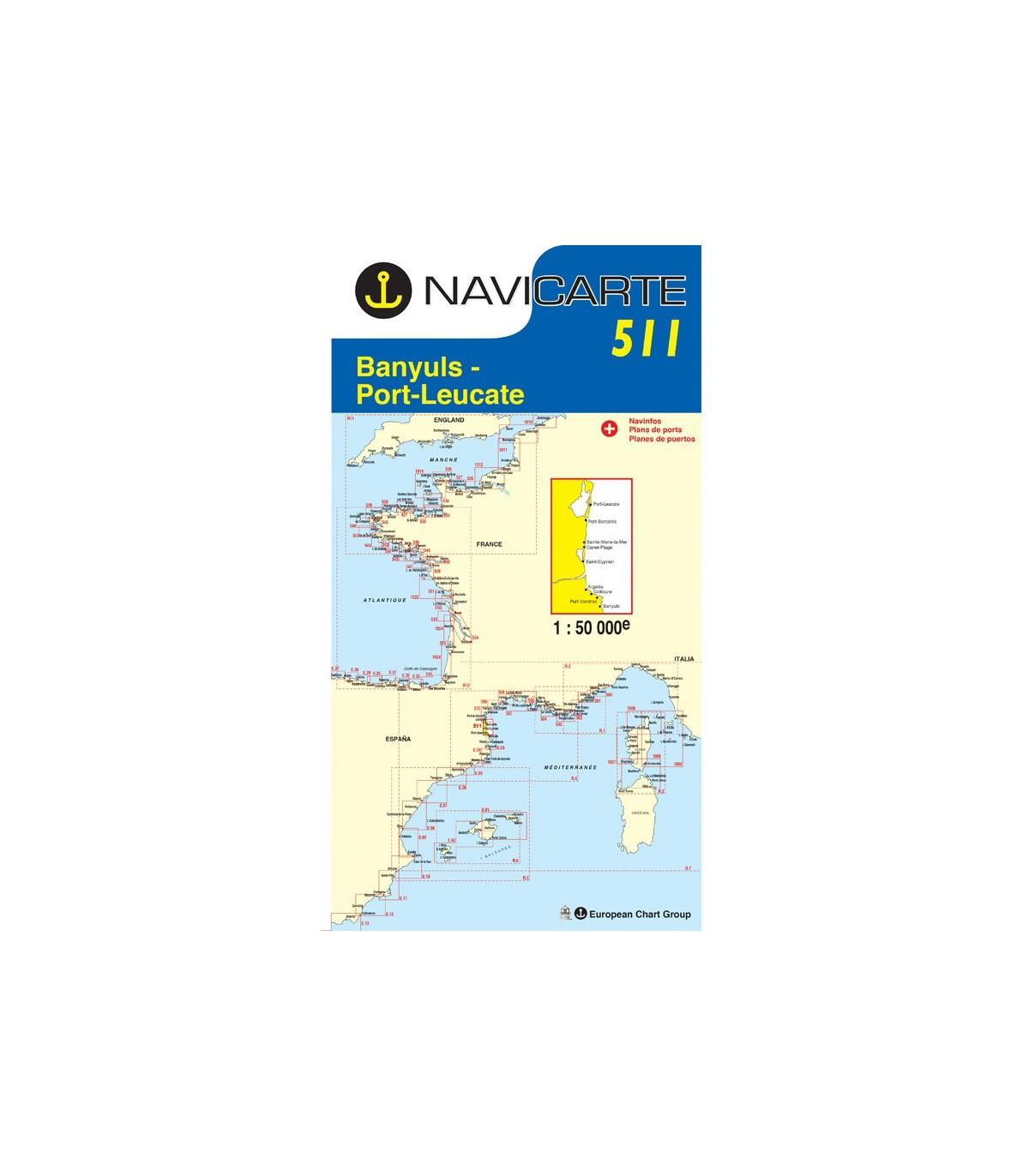 Carte Marine Navicarte Simple 511 Banyuls Port Leucate Port Vendres