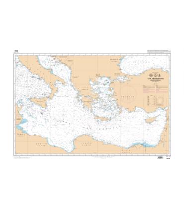 Carte Marine Shom Mediterranee Mer Egee Grece Turquie Carte