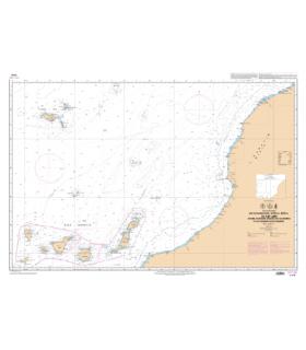 7270 L De Casablanca au Cap Jubi - Archipel de Madère et Iles Canaries - carte Shom papier