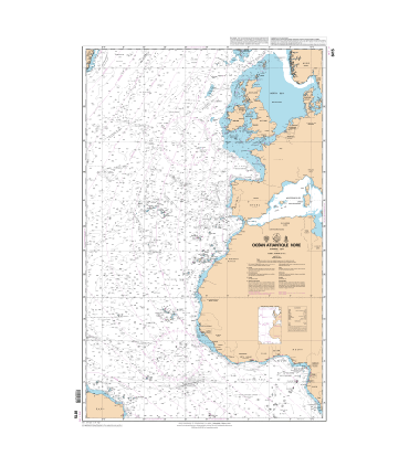 Carte Marine Shom 6815 Ocean Atlantique Nord Partie Est Carte M