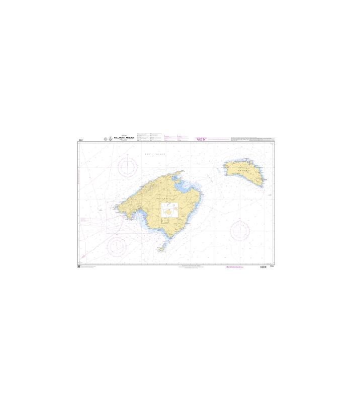 7781 Mallorca et Menorca - carte marine Shom