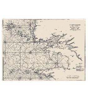 5ème carte particulière des costes de  Bretagne contenant les environs de la rade  de Brest