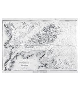 Plan de l'île Bréhat et de ses environs