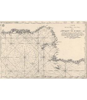 Carte de la côte et des îles des  environs de Marseille
