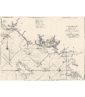 7ème carte particulière des costes de  Bretagne. Depuis l'Isle de Groa jusqu'au Croisic