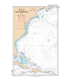 6619 - Côte Sud-Est de l'Amérique du Nord, Bahamas et Grandes Antilles - carte marine Shom classique