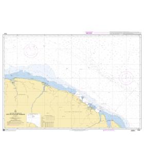 7374 - Côte de la Guyane française - Carte marine Shom papier
