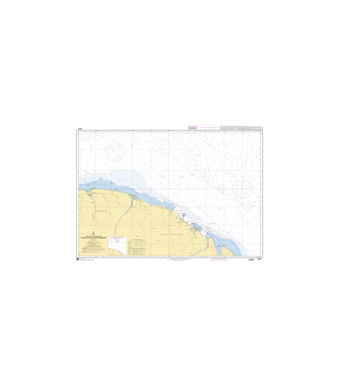 Carte Marine Bresil.Carte Marine Shom 7374 Cote De La Guyane Francaise Carte