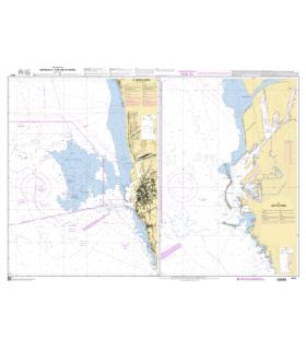 7516 - Abort et Port de Livorno - Carte marine Shom papier