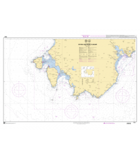 7332 - De Isola San Pietro à Cagliari - Carte marine Shom papier