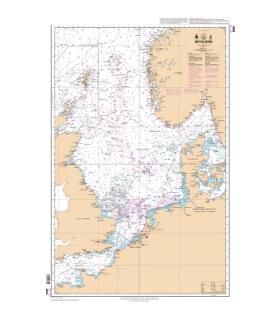 6608 - Mer du Nord - Carte marine Shom classique