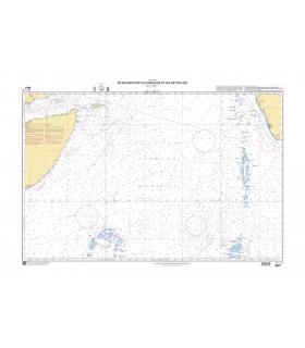 6674 - Du Golfe d'Aden aux Maldives et aux Seychelles - Carte marine Shom classique