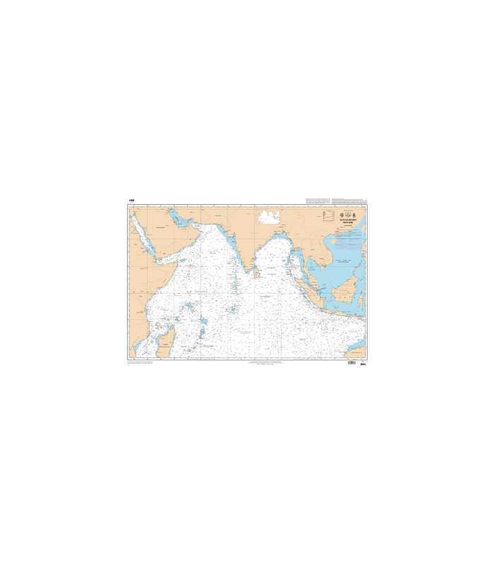 Carte Marine Afrique Du Sud.Carte Marine Shom 6884 Ocean Indien Partie Nord Carte