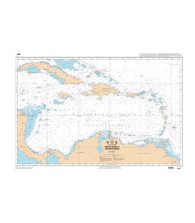 6898 - Mer des Antilles (Mer des Caraïbes) - Carte marine Shom papier