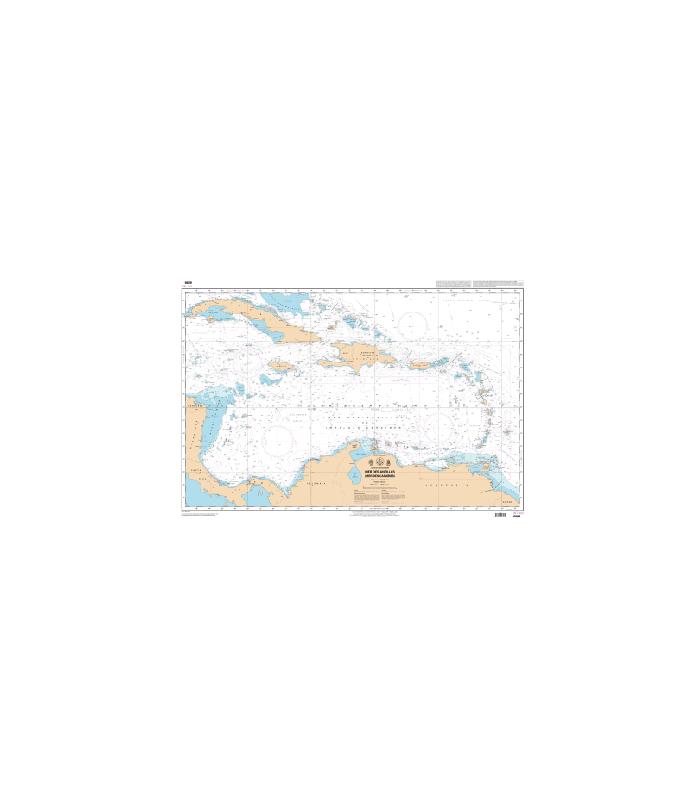 Carte Marine Afrique Du Sud.Carte Marine Shom 6898 Mer Des Antilles Mer Des Caraibes