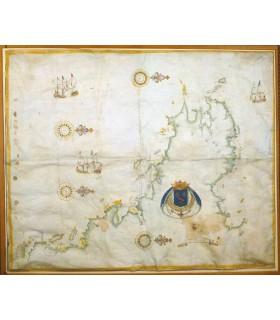 Carte-française-des-côtes-de-France-depuis-le-Mont-Saint-Michel