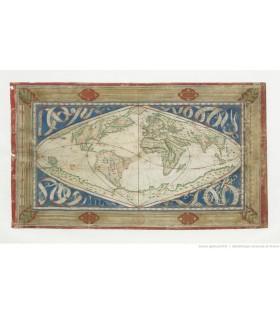 Carte-cosmographique-et-universelle-description-du-monde-avec-le-vrai-traict-des-vents,--Jean-Cossin,-1570-