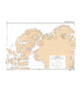 6013 -  Du Lancaster Sound à la terre de Peary et à Nugssuak - Les passages du Nord-Ouest - carte marine Shom