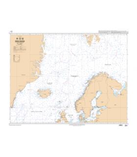 6727 - Mer de Norvège et mers adjacentes - carte marine Shom