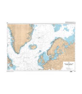 5417 - Océan Atlantique Nord et mers boréales - carte marine Shom papier