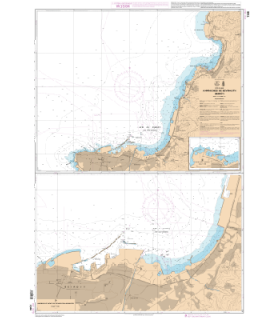 7348 - Approches de Beyrouth (Beiroût) - Carte marine Shom papier