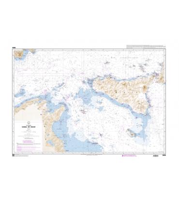 Carte Marine Shom 6606 Canal De Sicile Carte Marine Shom Papier