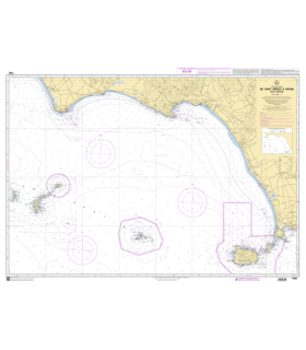 7362 - de Capo Circeo à Ischia - Isole Pontine - Carte marine Shom