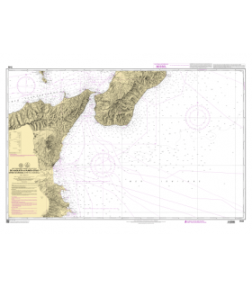 7549 - Détroit de Messina - de Augusta à Punta Stilo - Carte marine Shom