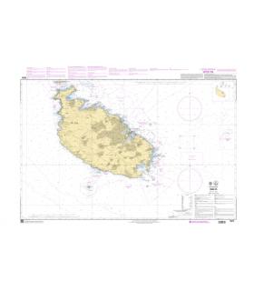 7675 - Ile de Malte - Carte marine Shom