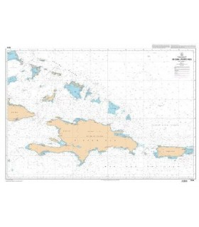 7474 - De Cuba à Puerto Rico - carte marine Papier