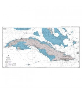 Admiralty 2579 - Cuba - Carte marine papier