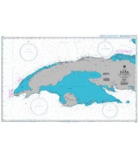 Admiralty 3867 - Cuba Western sheet - Carte marine papier