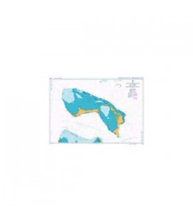 Admiralty 3910 - Little Bahama Bank including North West Providence - Carte marine papier