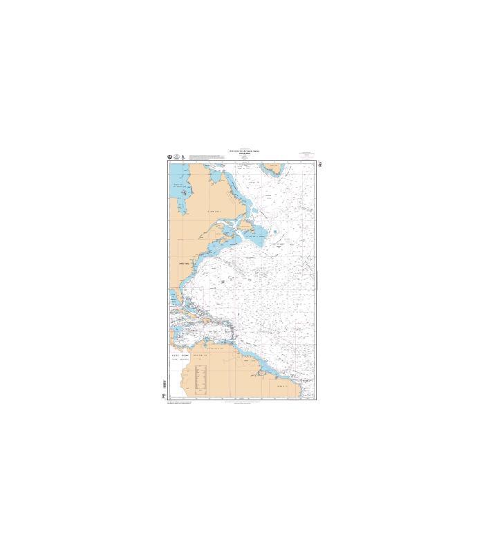7043 - Océan atlantique Nord Partie Ouest - Carte marine Shom classique
